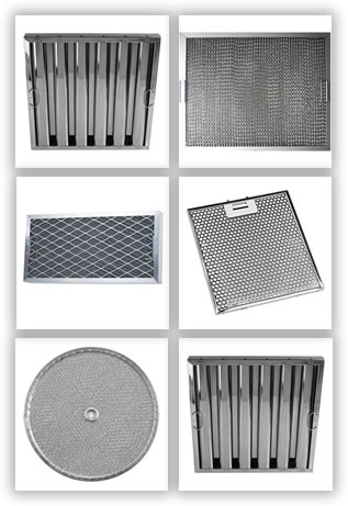 Baffle Range Hood Filter, Honeycomb Range Hood Filter, Mesh Grease Filter,  Perforated Filter