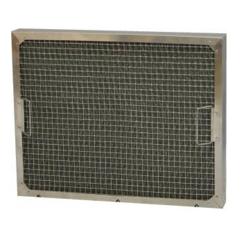 Handled galvanized knitted wire mesh grease filter is fixed by aluminum frame