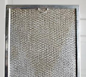 the clean range hood filter after careful cleaning