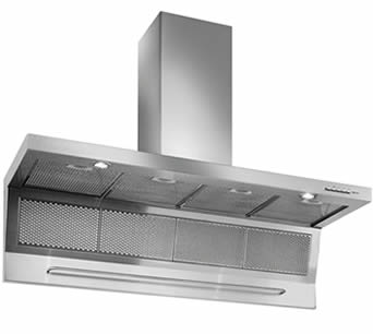 Several stainless steel perforated grease filters installed on the range hood