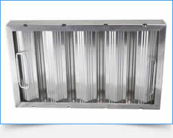 A light and economical aluminum grease filter for low volume kitchen range hood