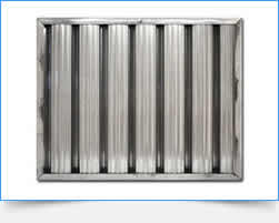 The galvanized grease filter resists corrosion, rust for endurable use when catching oil smoke