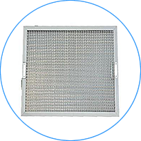 A honeycomb range hood filter with handles on the vertical sides