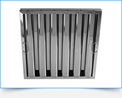 Durable and easy-to-wash stainless steel grease filter suitable for high volume range hood